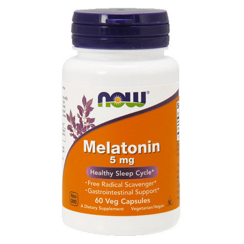 Melatonin 5mg Capsules by NOW