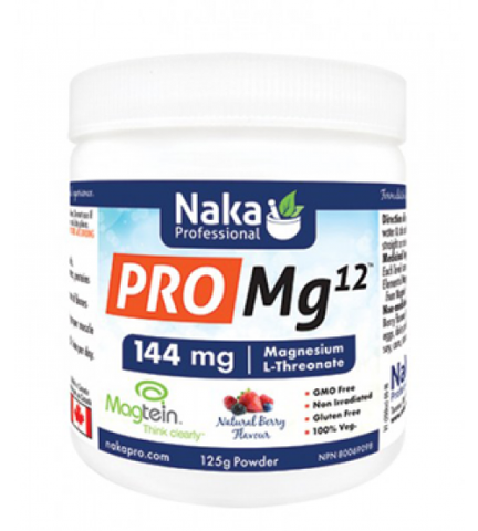 Pro Mg12 - Magnesium L-Threonate - 125g Powder - Naka
