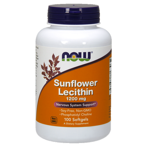 Sunflower Lecithin Capsules by NOW