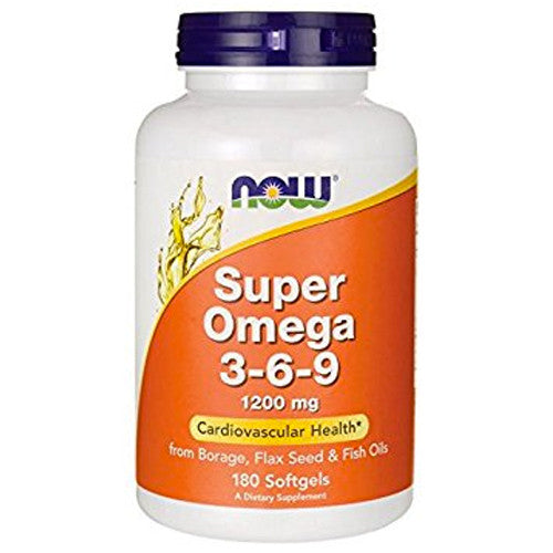 Super OMEGA-3-6-9 1200mg Softgels by NOW