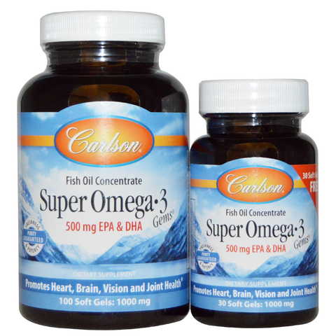 Super Omega-3 Fish Oil Gems (500mg) by Carlson