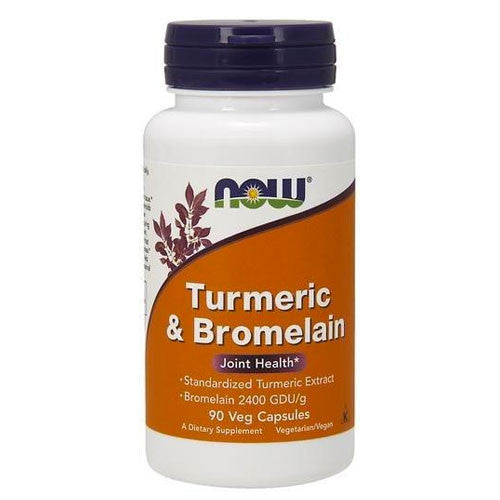 Turmeric & Bromelain Extract 450mg by NOW