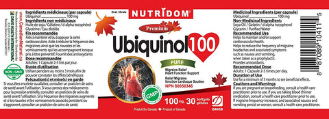 Ubiquinol 100 by Nutridom