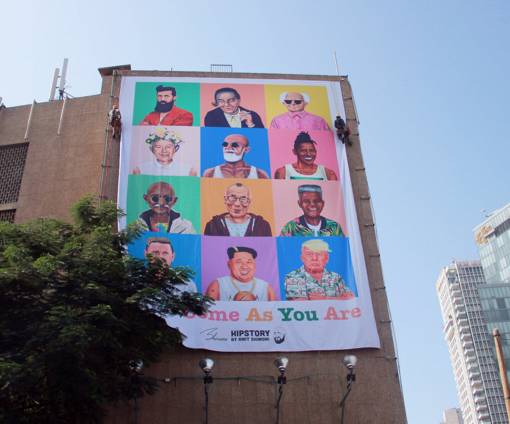 'TLV- Come As You Are' billboard for peak tourist season
