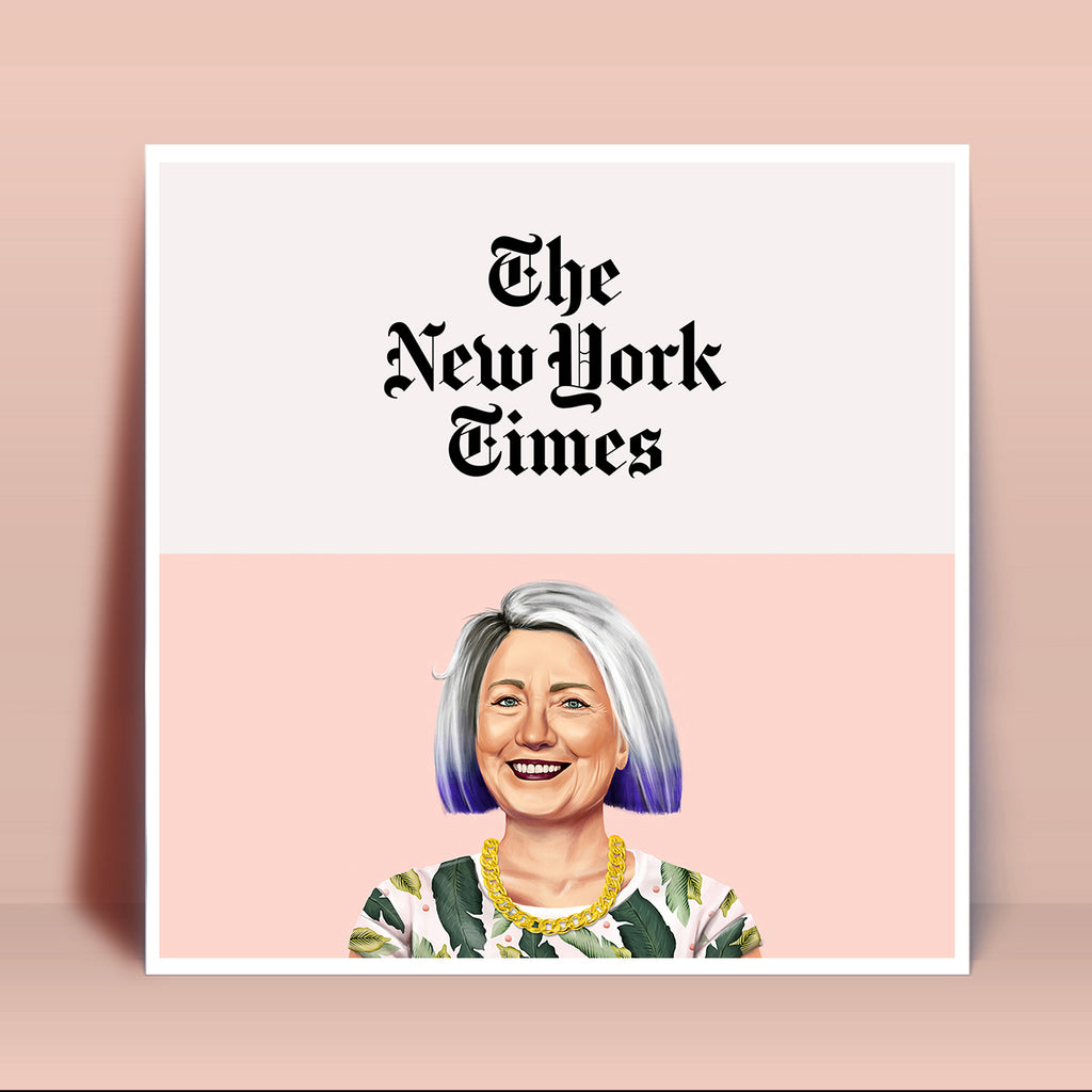 HIPSTORY Hillary Clinton for The New York Times