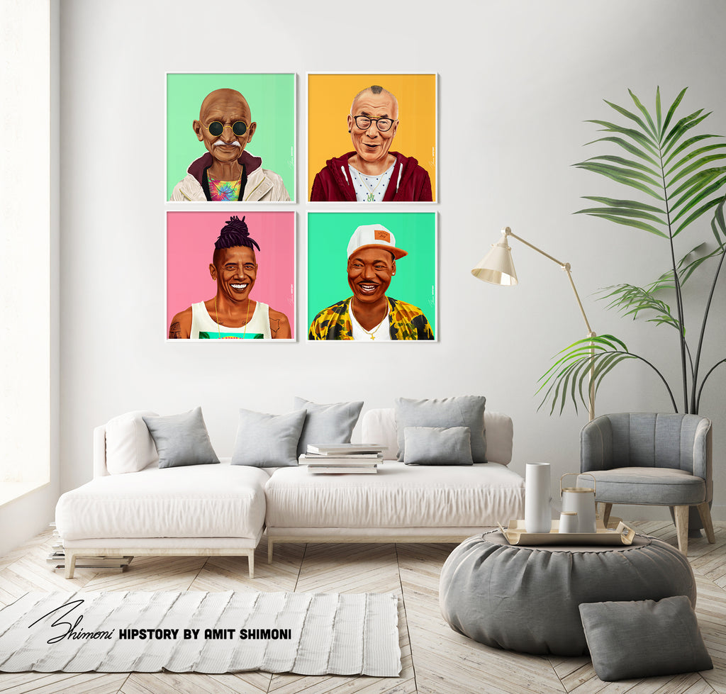 Dalai Lama Wall Print Decor