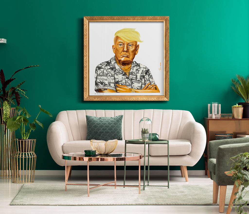 Golden Trump - Limited Edition signed by artist