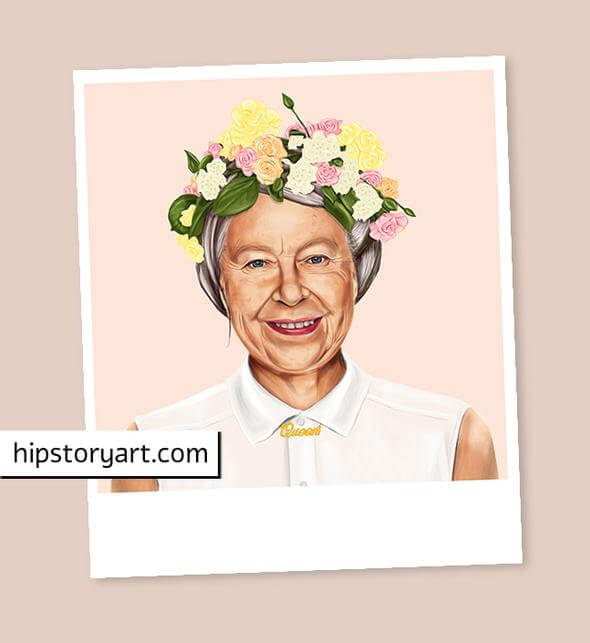 Queen Elizabeth II Mini Wall Art