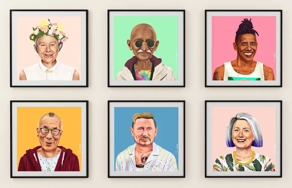 Choose Your 6 hipstory Prints Wall -  FREE Shipping