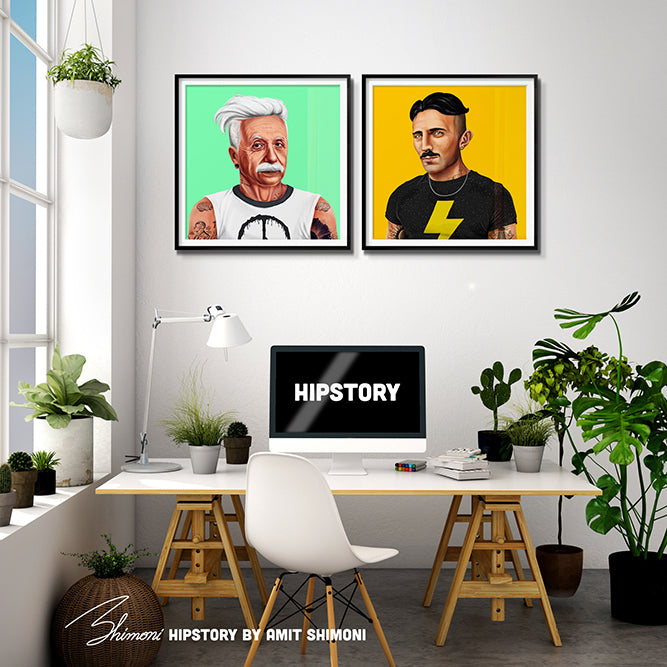 Nikola Tesla Wall Print Decor