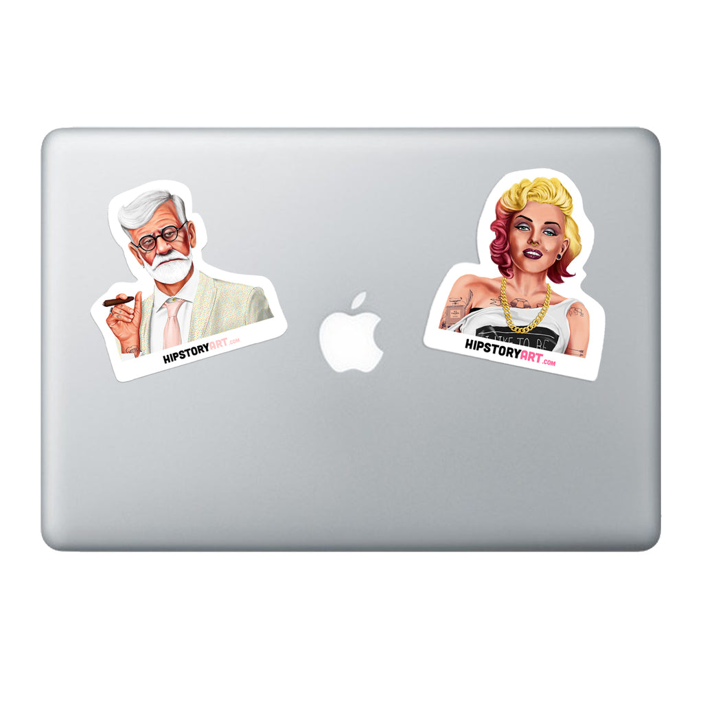 Marilyn Monroe Vinyl laptop sticker