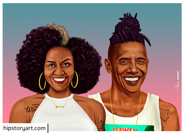 Michelle and Barack Obama Wall Art