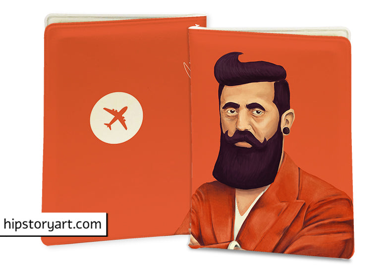 BENJAMIN ZEEV HERZL PASSPORT COVER  / CARD COVER