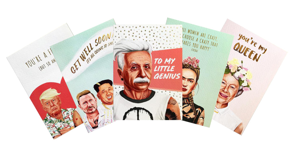 CHOOSE YOUR PACK OF HIPSTORY GREETING CARDS