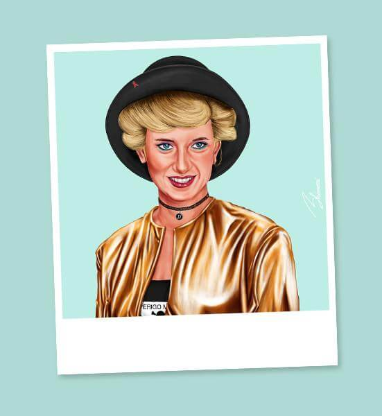 Princess Diana Mini Wall Art