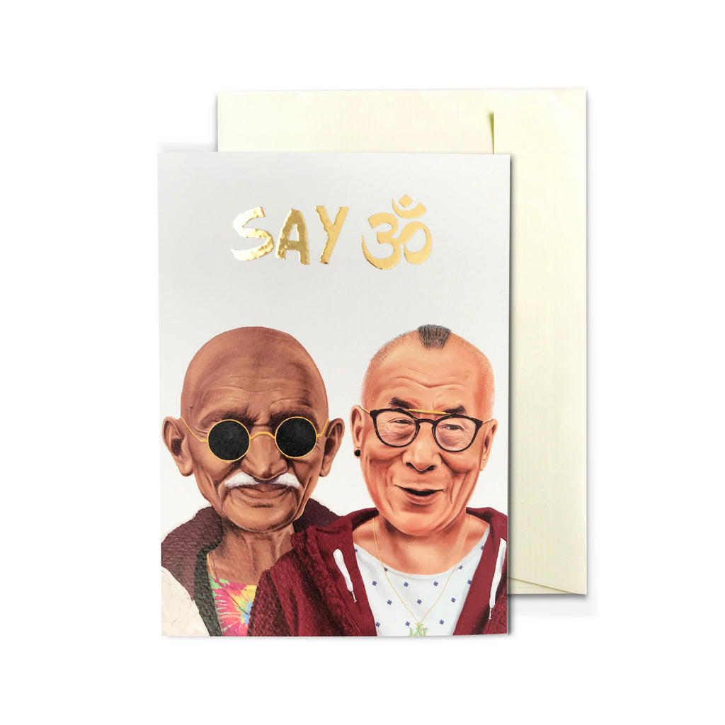 SAY ॐ Greeting Card
