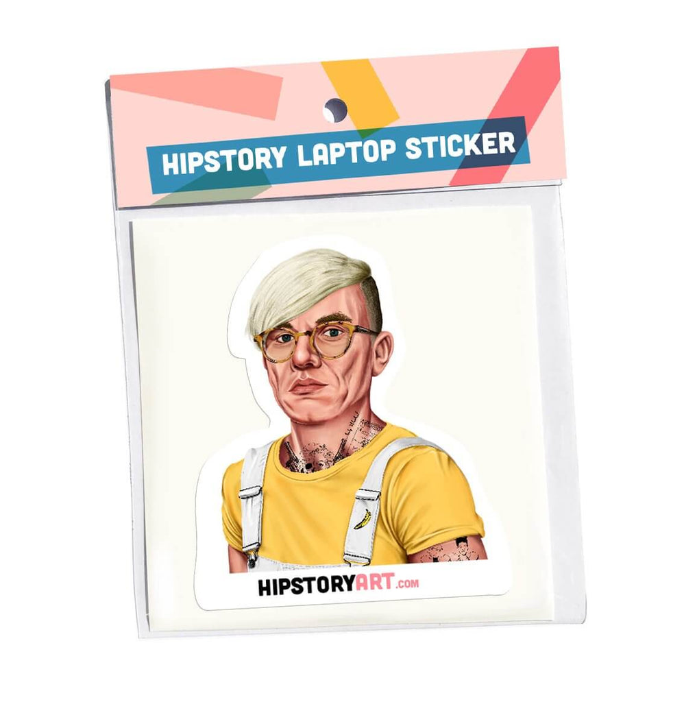 Vinyl laptop sticker Andy Warhol