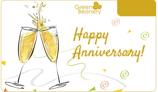 Anniversary cards green beanery happy anniversary champagne negle Image collections