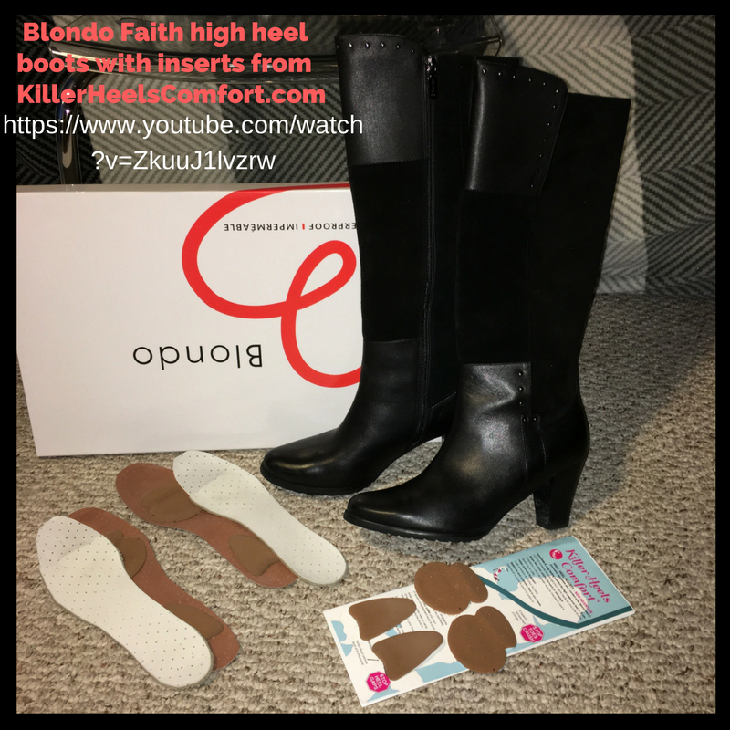How to put inserts into high heel boots for comfort, stability and warmth - the boots are Blondo Faith boots
