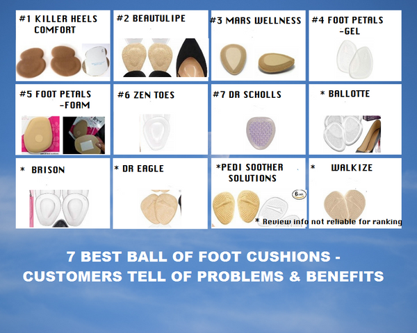 7 BEST BALL OF FOOT PADS on  AMAZON  Ranked by Which Ones Work