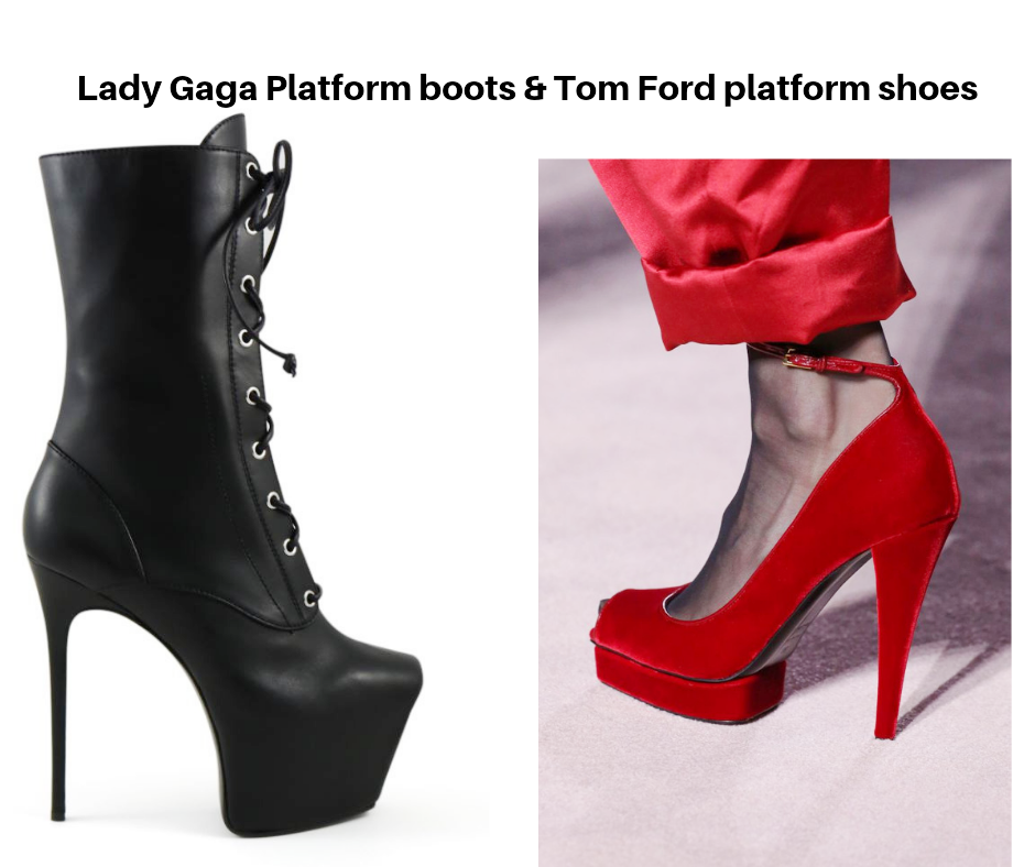 How to wear platform boots like Lady Gaga and Four - 4 - top tips on how to have COMFORTABLE HIGH HEELS IN ANY STYLE