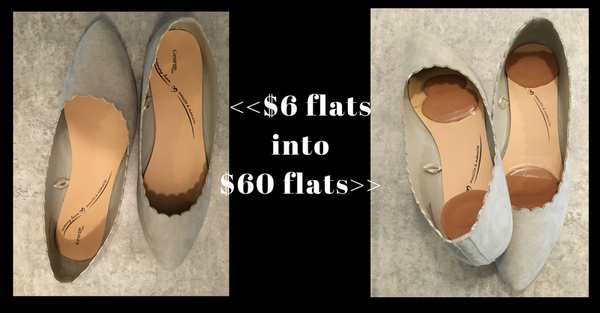 Tips for wearing ballerina flats comfortably! Also how to turn $6 flats into $60 flats in two simple steps