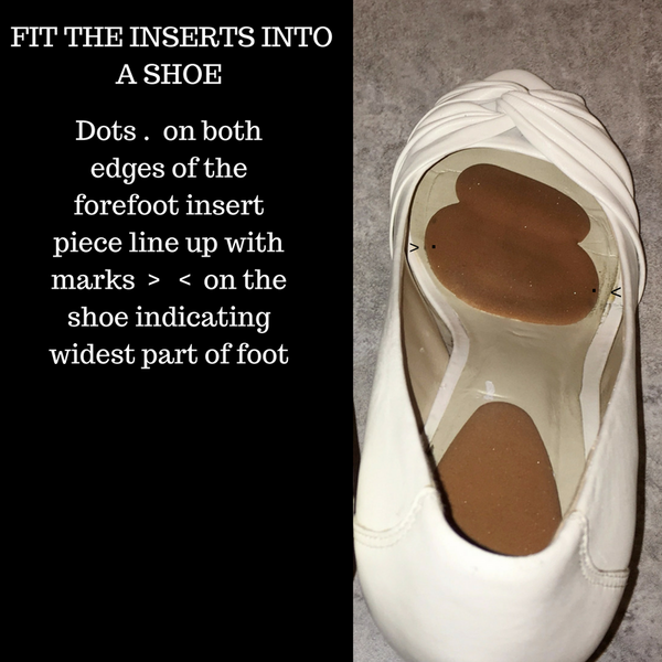 How to Fit Killer Heels Comfort high heel inserts into shoes - one easy step