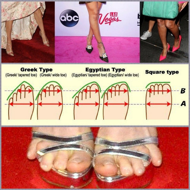 How to buy high heel shoes that fit better. Is your foot type Greek, Egyptian or Square?