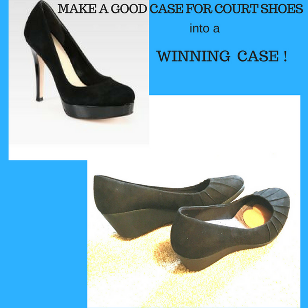 How becoming a lawyer inspired a new high heel shoe inserts design. Making a good case for winning court shoes
