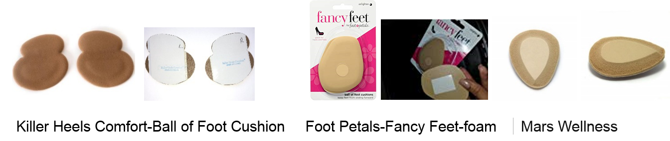 Brand New In Package 4 Pair 2 Pack 8 Pads Total Fancy Feet Non Skids White