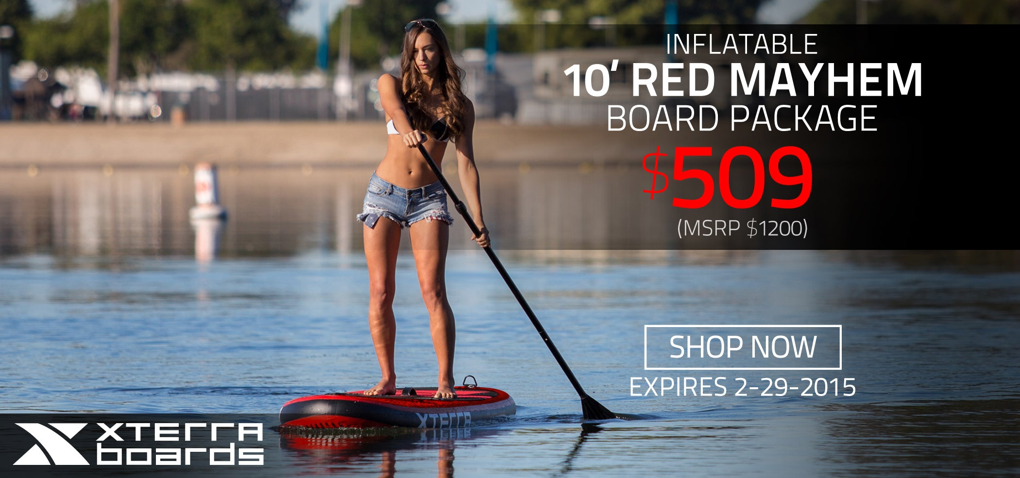 10' Mayhem Red Inflate Board SUP Package