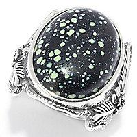 Gem Insider] Sterling Silver 20 x 15mm Oval New Lander Turquoise Ring