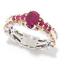 Gems en Vogue Oval & Round Choice of Gemstone Band Ring