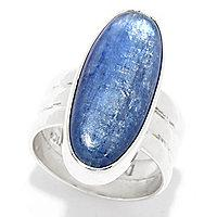 Dominique Dinouart Designs Sterling Silver 24 x 10mm Oval Gemstone Ring