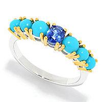 Gem Insider] Sleeping Beauty Turquoise & Gemstone Band Ring