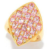 Gem Insider] 3.70ctw Rose Spinel & White Zircon Shield Ring