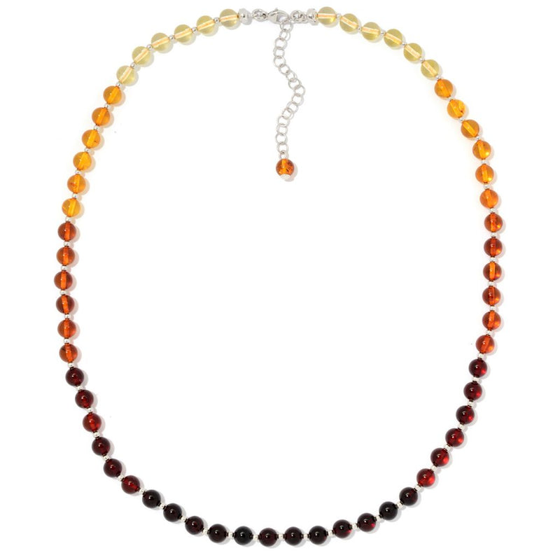 "Gemporia 19"" 6mm Ombre Baltic Amber Beaded Necklace w/ 2"" Extender"