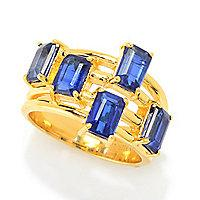 Gem Insider] 3.06ctw Step Cut Rasuwa Kyanite 5-Stone Band Ring