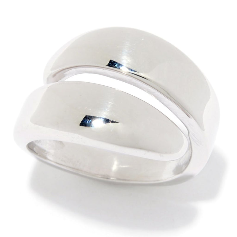 Sorrento Italian Silver Polished Bypass Ring, 6.2 grams