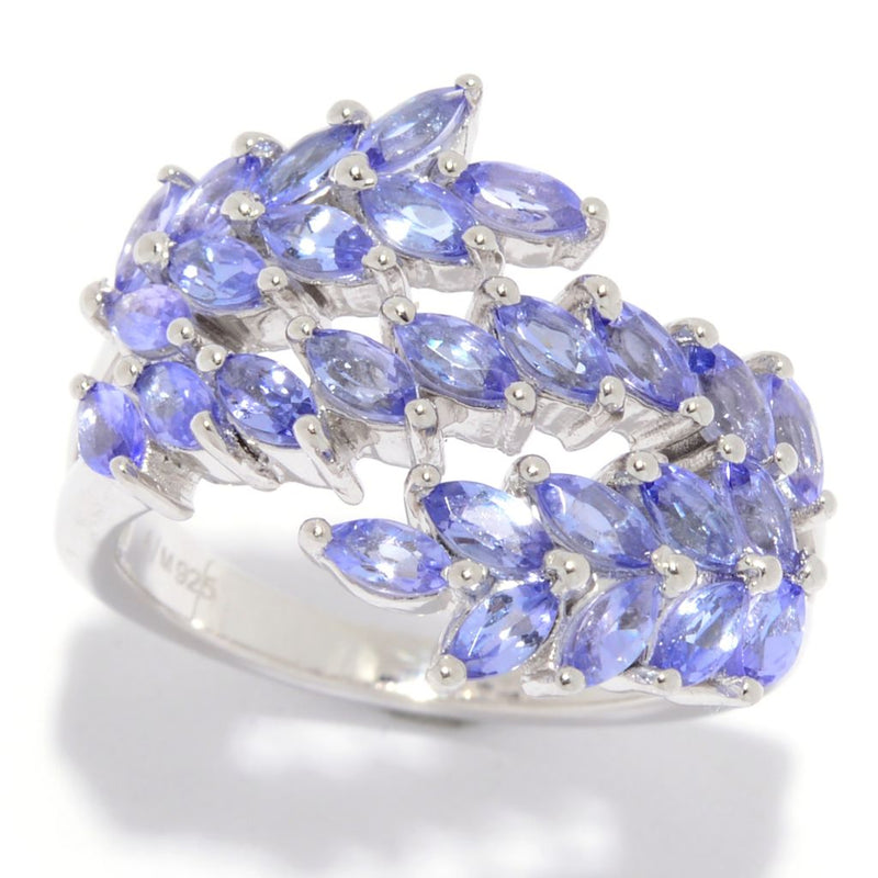 Gem Treasures® 1.83ctw Marquise Cut Tanzanite Bypass Ring