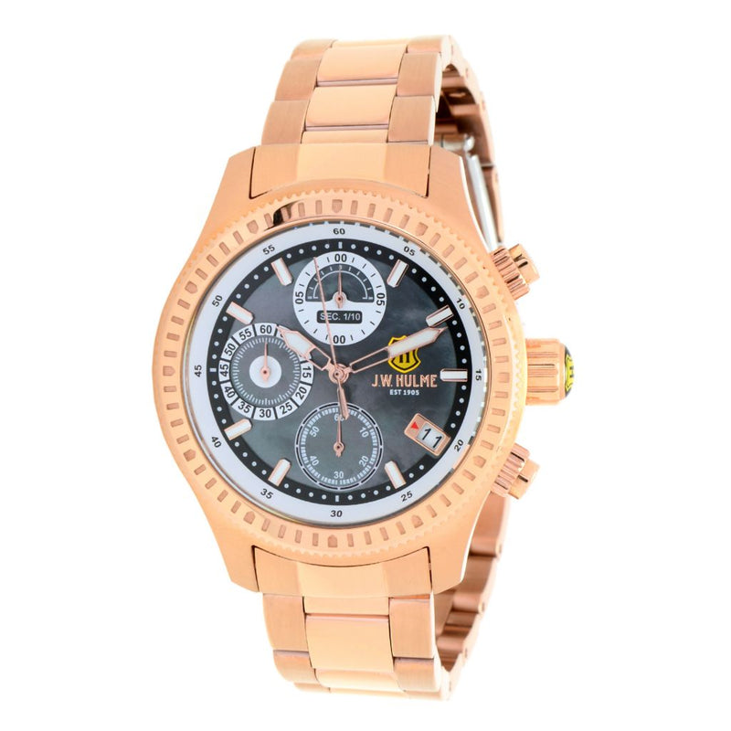JW Hulme Women's Quartz Chronograph Mother-of-Pearl Bracelet Watch
