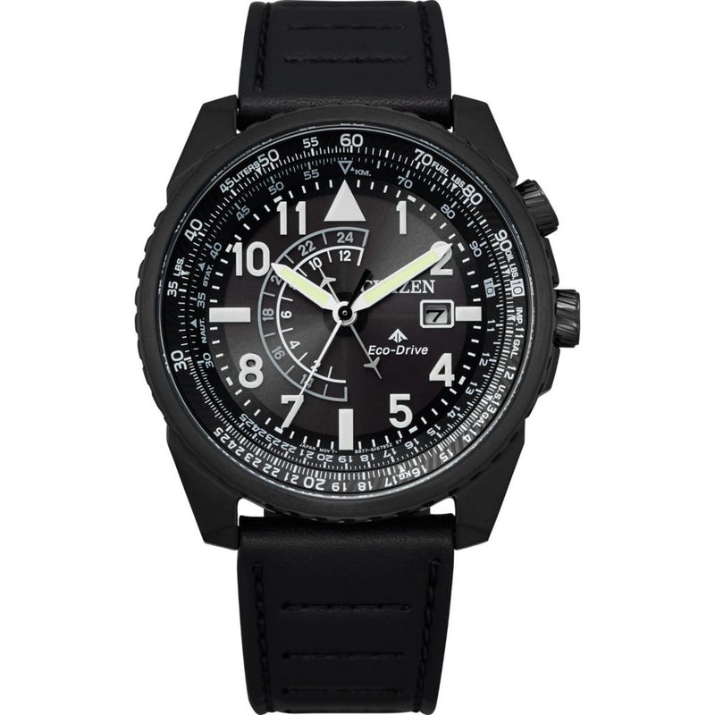 Citizen 43mm Promaster Nighthawk Eco-Drive GMT Strap Watch