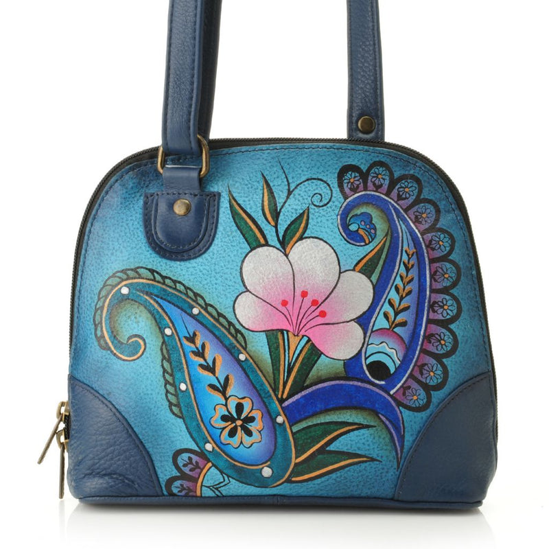 Anuschka Hand-Painted Leather Zip Around Crossbody Bag - Final Sale
