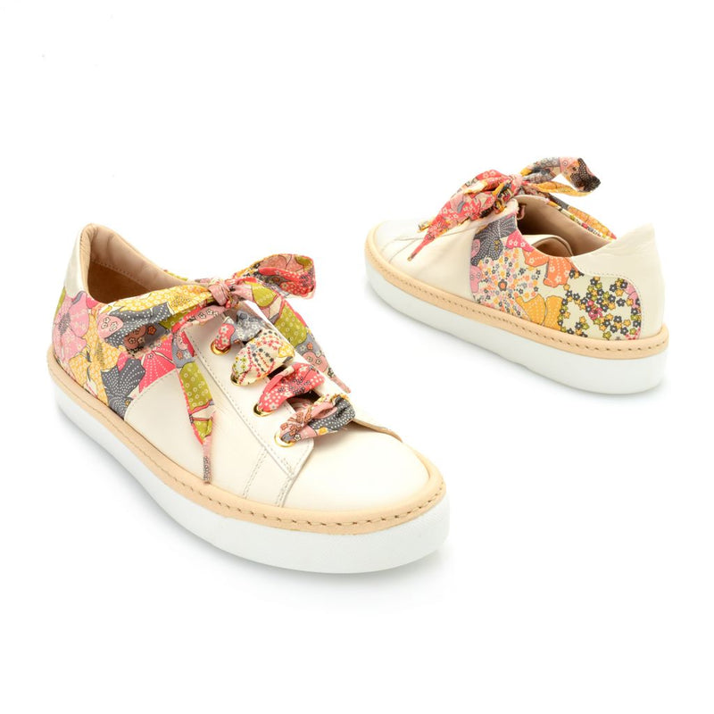 "Ron White ""Brylee"" Soft Nappa Leather & Fabric Lace-up Sneakers"