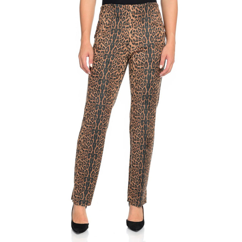 Nygard Slims Luxe Ponte Printed Faux Suede Elastic Waist Pull-on Pants