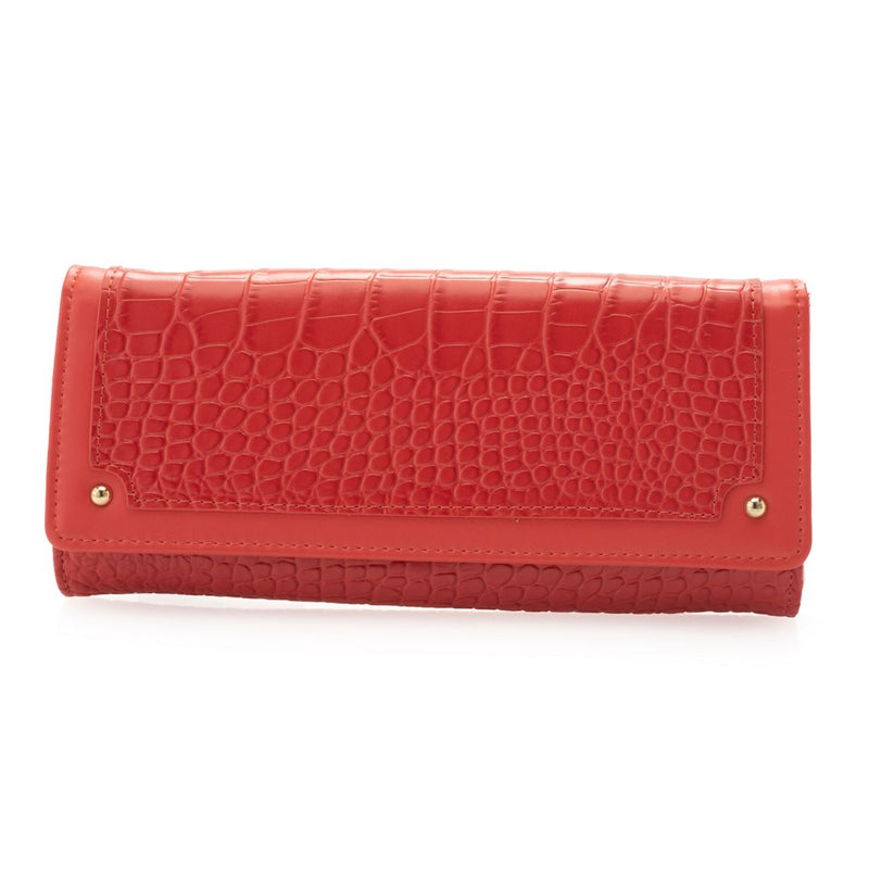 "Madi Claire ""Marsha"" Croco Embossed Leather Wallet"