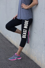 Beast Mode Black Yoga Pants for Women