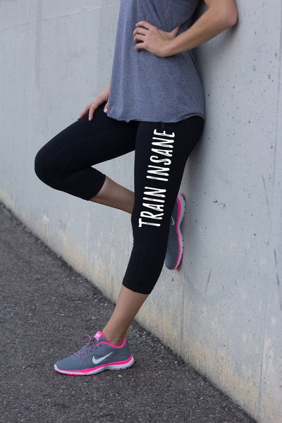 Train Insane Black Fitness Pants