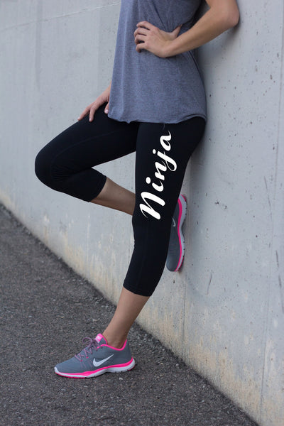 Ninja Black Exercise Leggings for Women