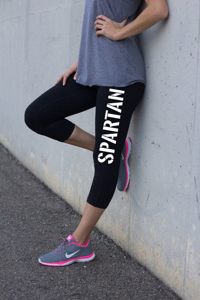 Ladies Black Yoga Pants Spartan